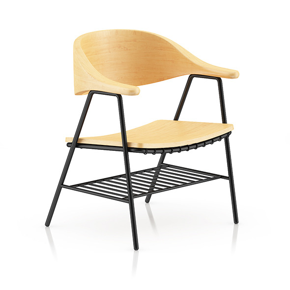 Wood and Metal Chair 1 - 3DOcean Item for Sale