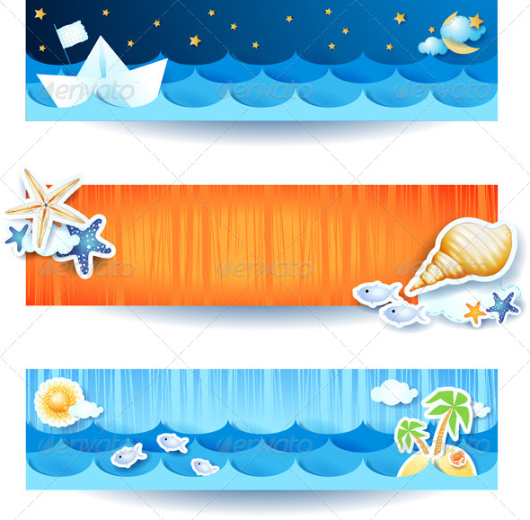 GraphicRiver Beach Banners 8035682