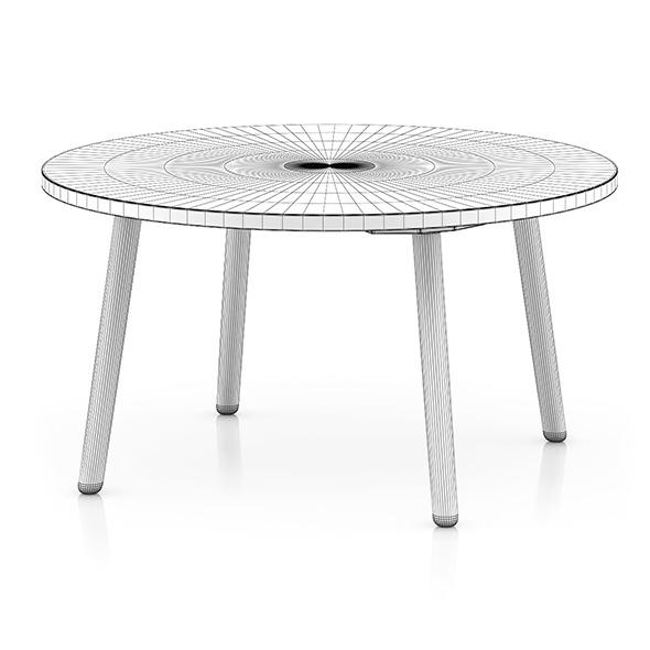 3DOcean White Round Table 8035705