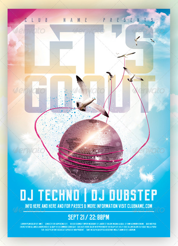 GraphicRiver Let's go Out Flyer Poster 8036025