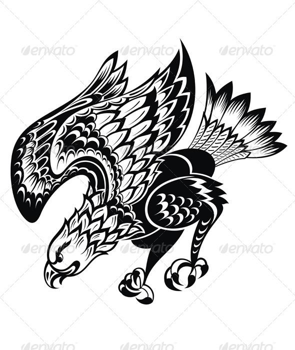 GraphicRiver Eagle Tattoo 8036060