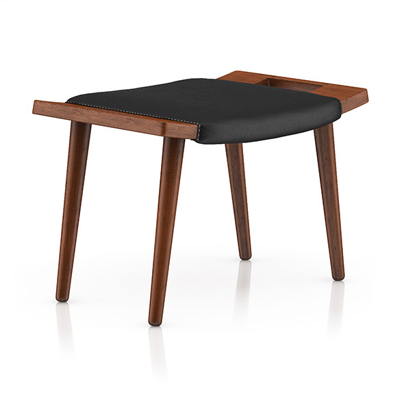 Wood and Leather Stool - 3DOcean Item for Sale