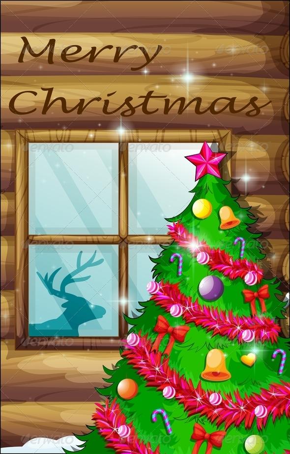 GraphicRiver Christmas Tree Near Window 8036365