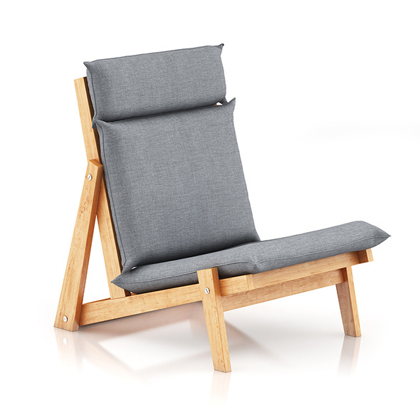 3DOcean Grey Lounge Chair 8036515