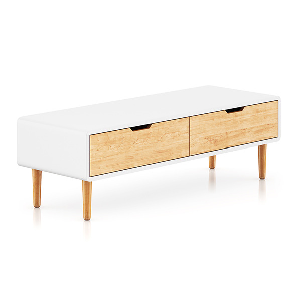 3DOcean White and Wood Cabinet 8036539