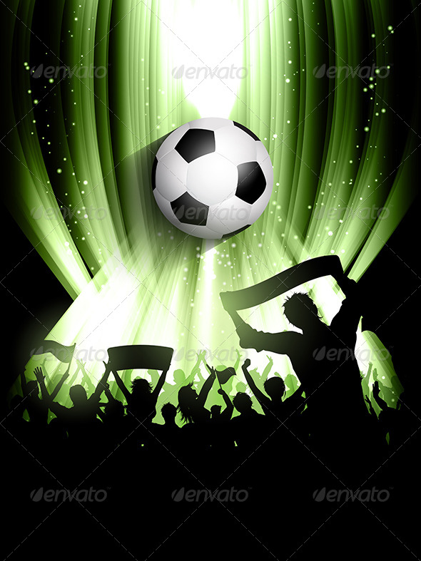 GraphicRiver Football Soccer Crowd Background 8036571