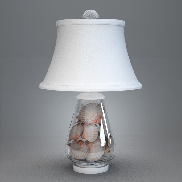 Shell lamp - 3DOcean Item for Sale