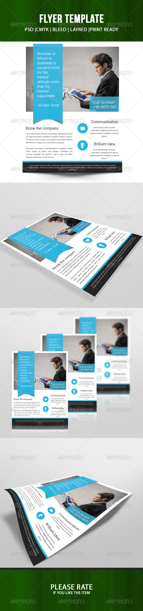 GraphicRiver Corporate Flyer Template-V52 8036827