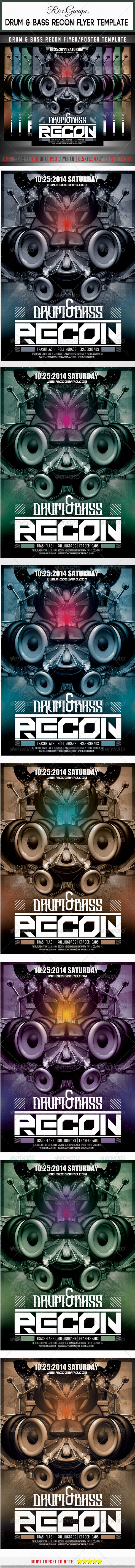 GraphicRiver Drum & Bass Recon Flyer Poster Template 8036839