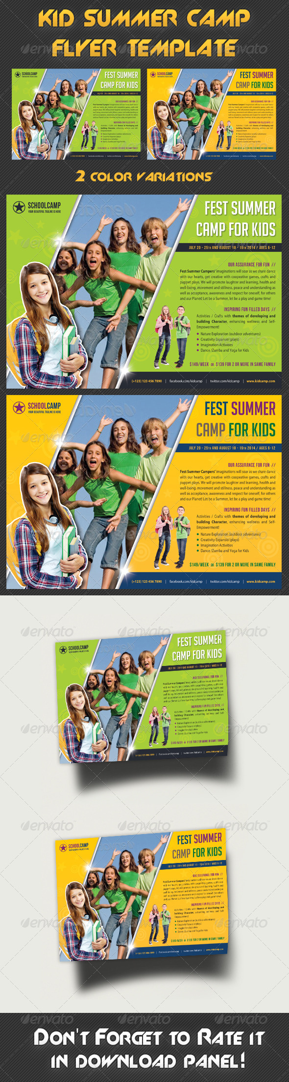 GraphicRiver Kids Summer Camp Flyer Template 8037018