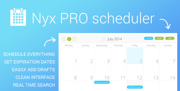 CodeCanyon Nyx PRO scheduler for WordPress 8037129