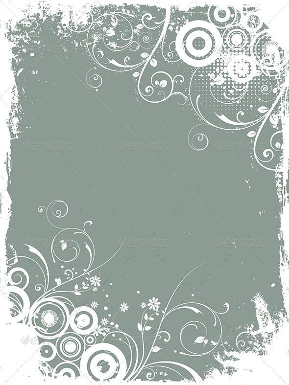 GraphicRiver Floral Grunge 8037316