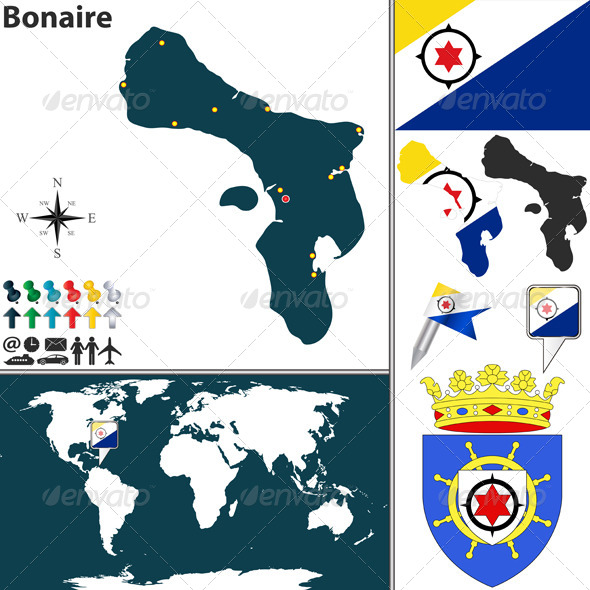 GraphicRiver Map of Bonaire 8037441