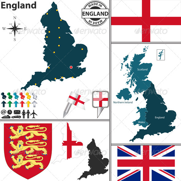 GraphicRiver Map of England 8037447