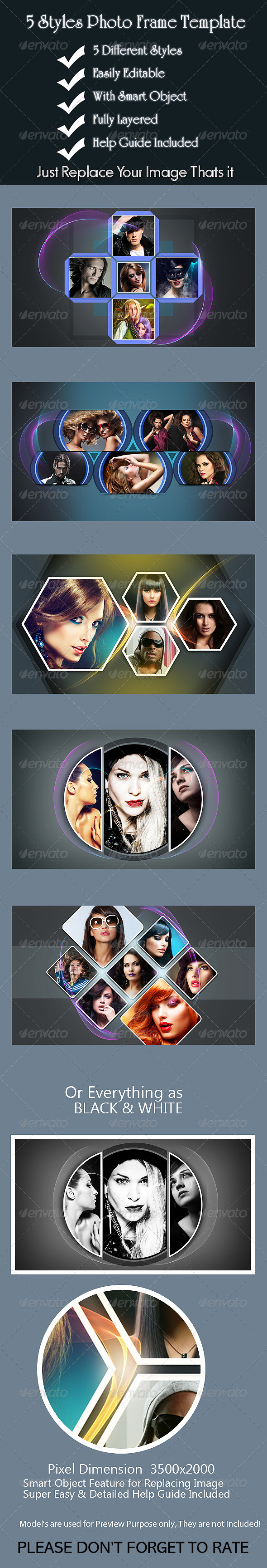 GraphicRiver 5 Styles Photo Frame Template 8037667