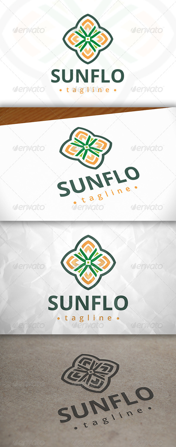 GraphicRiver Sun Flower Logo 8037737