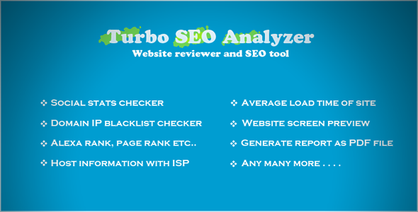 CodeCanyon Turbo SEO Analyzer 8037745