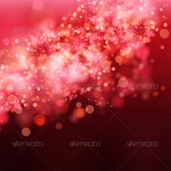 GraphicRiver Lights on Red Background Bokeh Effect 8037797