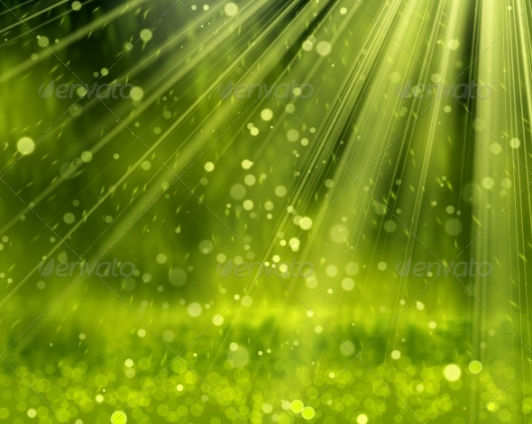 GraphicRiver Green Background with Beams 8037807