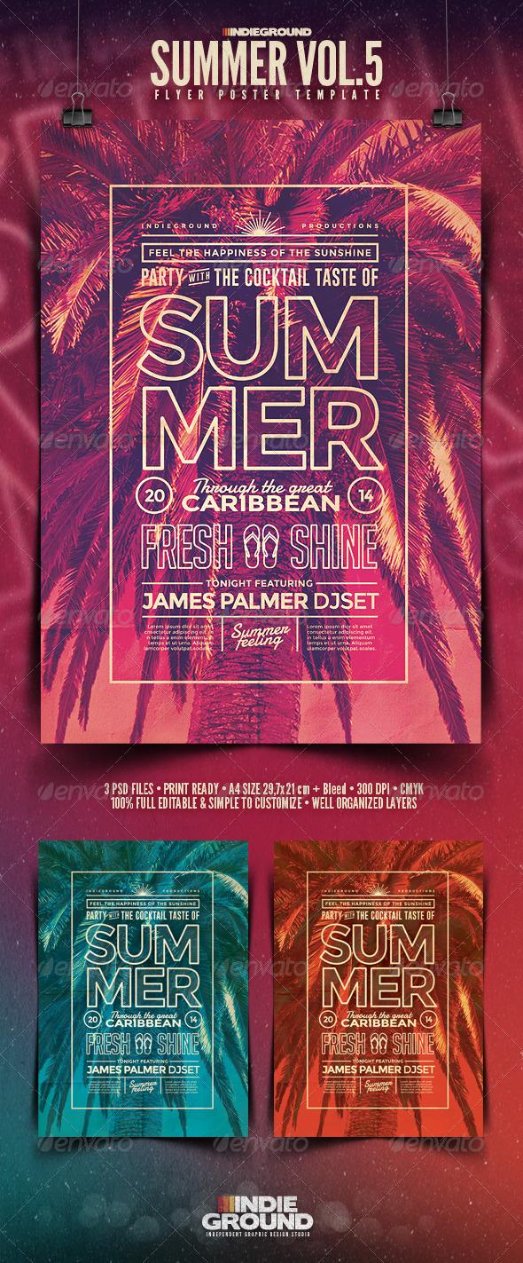 GraphicRiver Summer Flyer Poster Vol 5 8037815