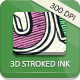 3D Stroked Ink - Actions - GraphicRiver Item for Sale