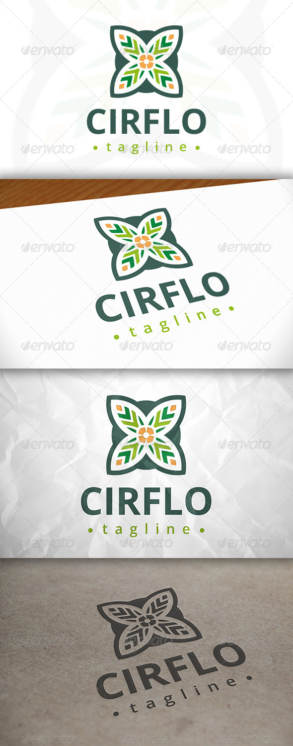 GraphicRiver Circle Flower Logo 8037885