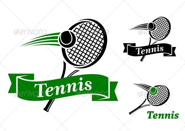 GraphicRiver Tennis Sports Emblems 8037955