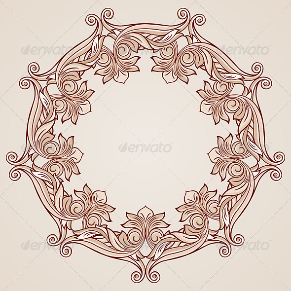 GraphicRiver Rose Pink Floral Pattern 8038096