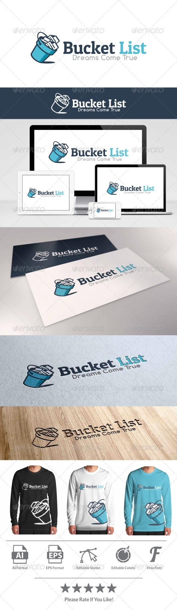 GraphicRiver Bucket List Logo 8038207