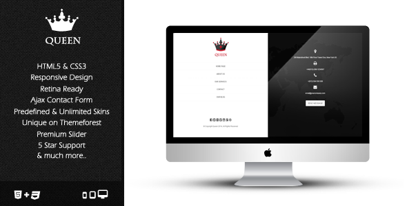 Queen - Responsive & Retina Ready Template - Creative Site Templates