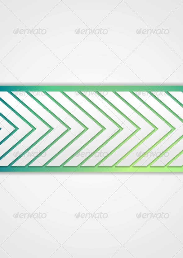 GraphicRiver Tech Arrows Banner 8038287