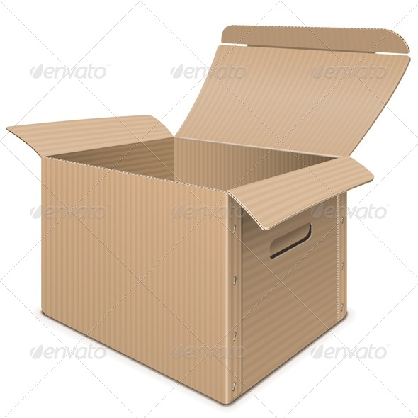 GraphicRiver Empty Carton Box 8038317