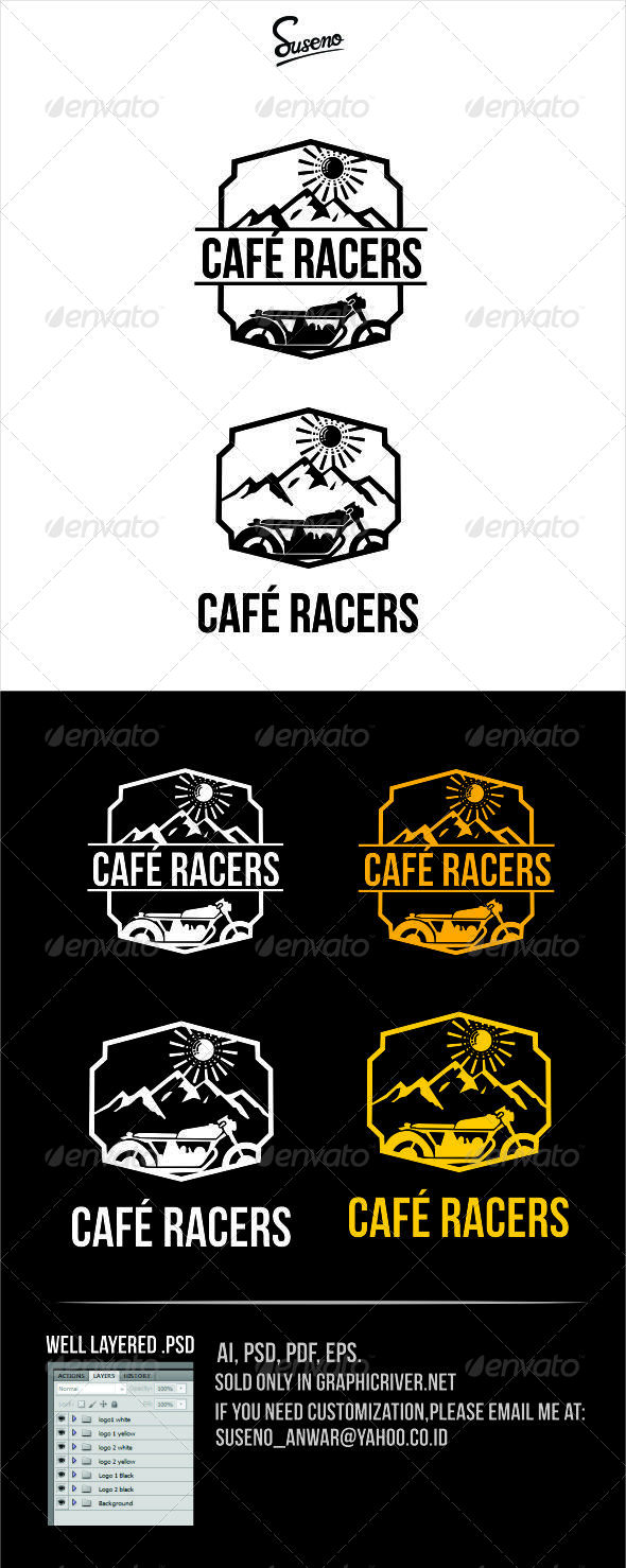 GraphicRiver Cafe Racers Logo 8032398