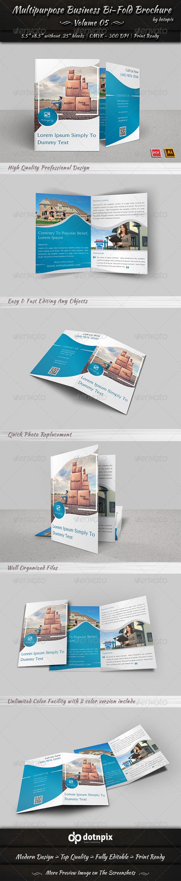 Multipurpose Business Bi-Fold Brochure Volume 5
