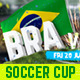 Brazil Soccer Cup Facebook Timeline - GraphicRiver Item for Sale