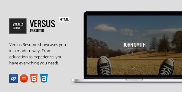VERSUS Resume - Responsive CV Template + Bonuses - Resume / CV Specialty Pages