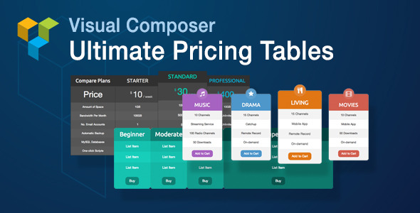 CodeCanyon Visual Composer Ultimate Pricing Tables Add-on 8038698