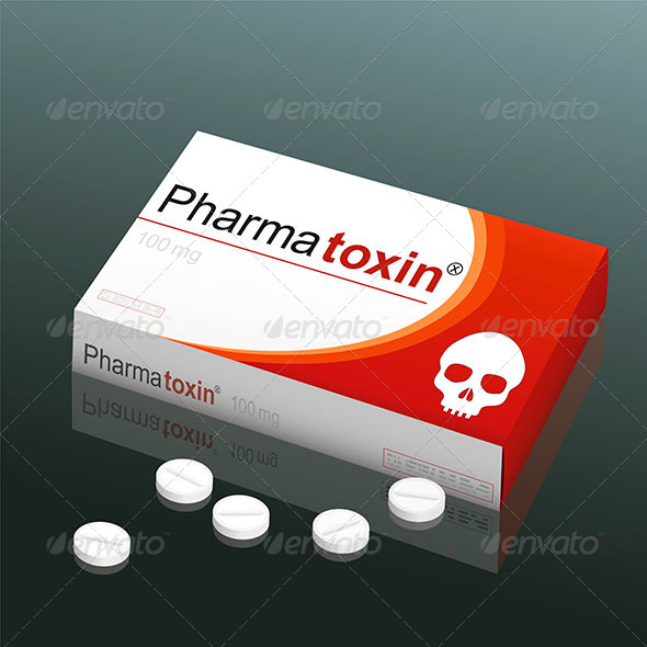 GraphicRiver Pills Pharmatoxin Skull 8038699