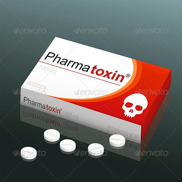 GraphicRiver Pills Pharmatoxin Skull 8038699