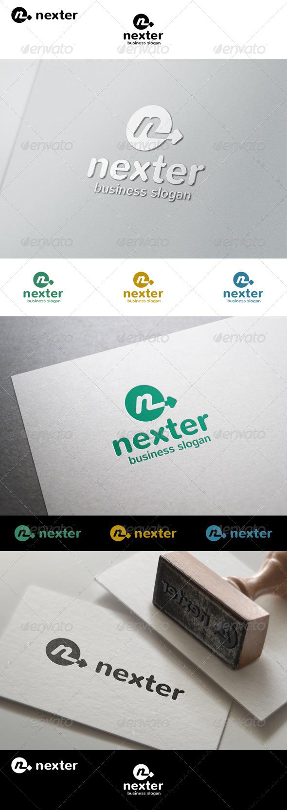 GraphicRiver Nexter N Arrow Logo 8038702