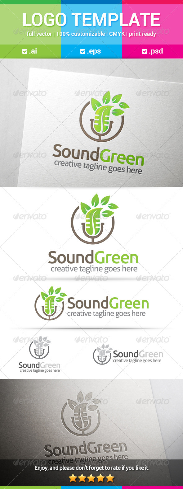 GraphicRiver Sound Green Logo 8038721