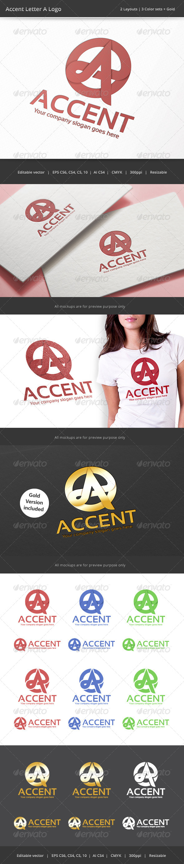 Accent Letter A Logo