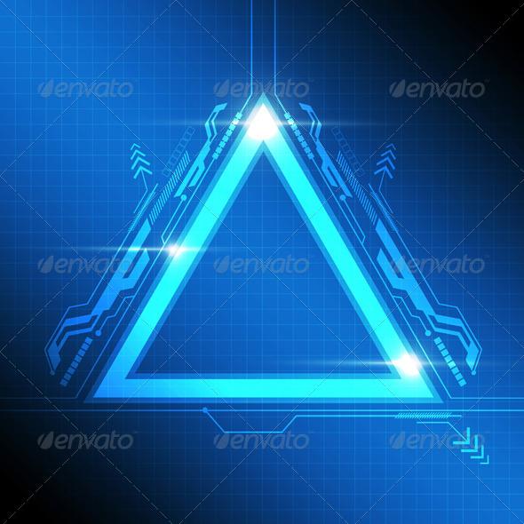 GraphicRiver Triangle Frame Modern Design 8038999