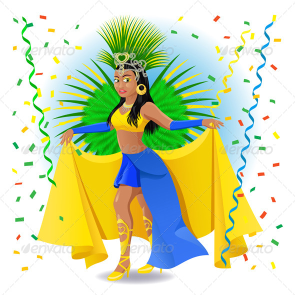 GraphicRiver Carnival Dancer Illustration 8039046