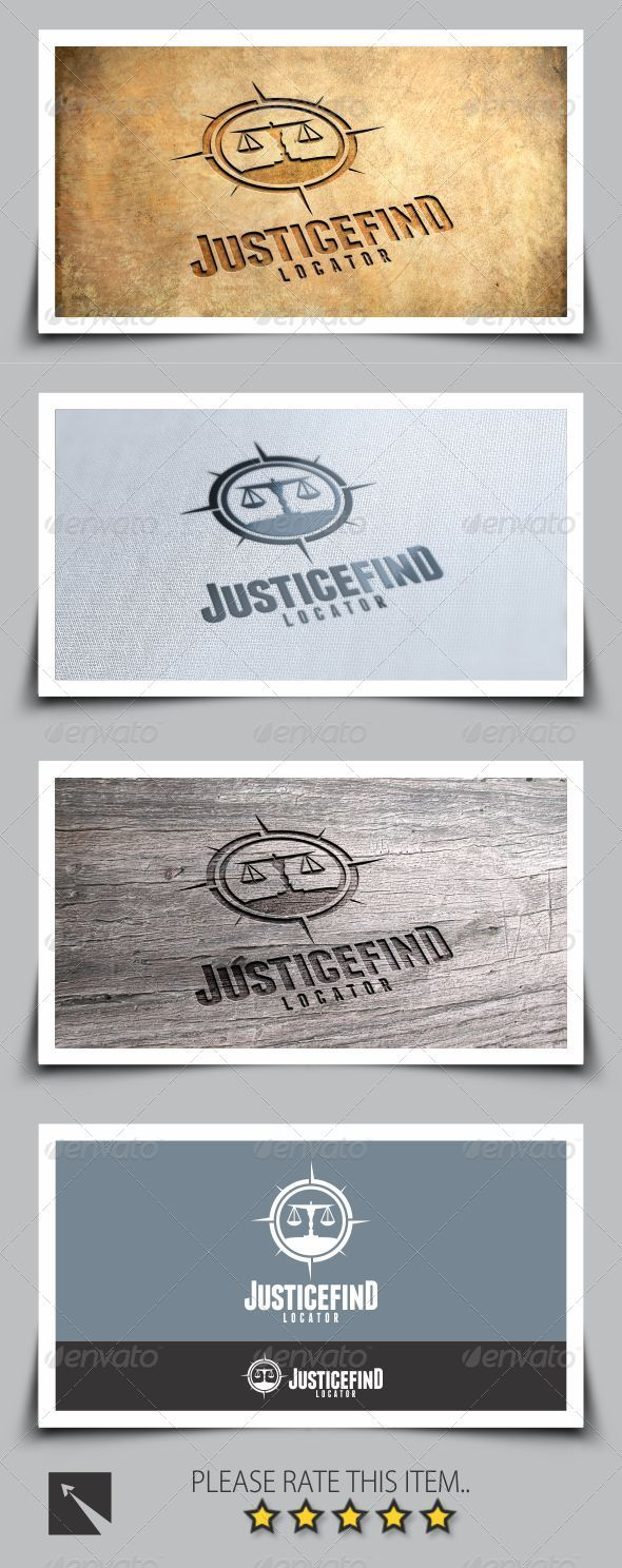 GraphicRiver Find Justice Logo Template 8039049
