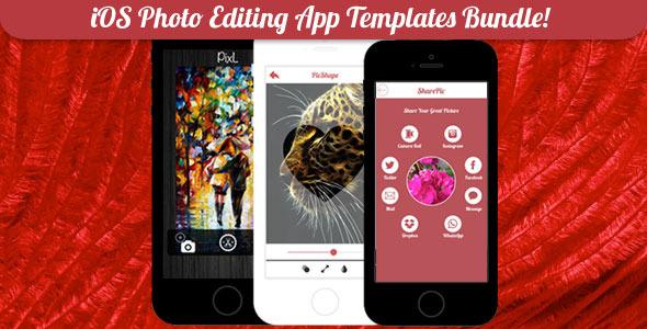 CodeCanyon iOS Photo Editing App Templates Bundle 8039344