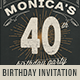 Vintage Typography Birthday Invitation - GraphicRiver Item for Sale