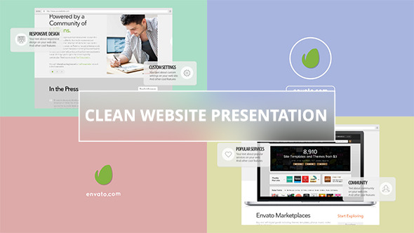 Clean Website Presentation