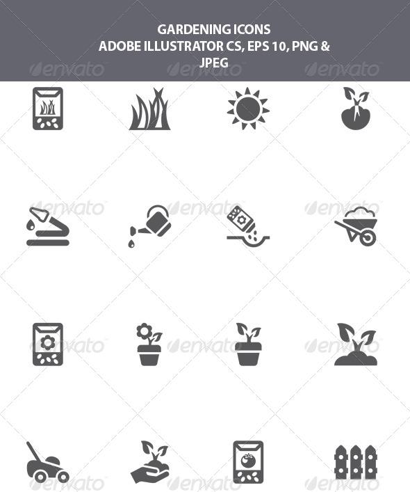GraphicRiver Gardening Icons 8039512