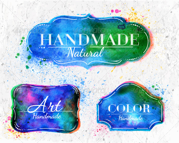 GraphicRiver Watercolor Labels Overlay 8039525